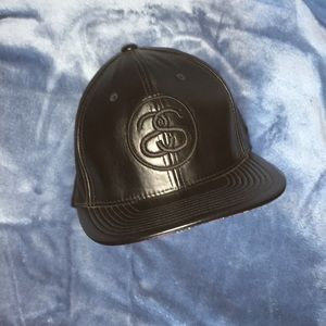 Stussy leather cap